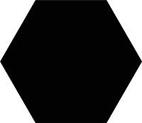 Плитка Codicer Gres Basic Black Hex (250x220) -