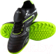 Бутсы футбольные Atemi SD300 TURF (черный/салатовый, р-р 33) -