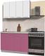 Готовая кухня Интерлиния Мила Пластик 1.2 А (гортензия глянец/белый глянец/опал светлый) -