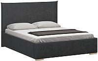 Двуспальная кровать Woodcraft Ницца 160 вариант 7 (искусственная шерсть/грифельно серый) -