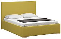 Двуспальная кровать Woodcraft Ницца 160 Вариант 9 (горчичный велюр) -