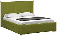 Двуспальная кровать Woodcraft Ницца 160 вариант 10 (зеленый велюр) -