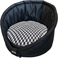 Лежанка для животных AntePrima Tortellino / TORTPELPDPNER02 (черный квадрат) -