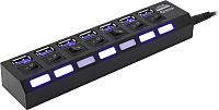 USB-хаб 5bites HB37-303PBK -