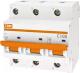 Выключатель автоматический TDM ВА 47-100 3Р 100А (D) 10кА / SQ0207-0033 -
