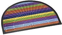 Коврик грязезащитный Shahintex Полукруглый Lux Multicolor 45x75 (радуга) -