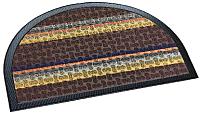 Коврик грязезащитный Shahintex Полукруглый Lux Multicolor 45x75 (шоколадный) -