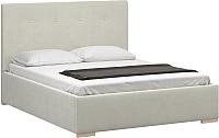 Двуспальная кровать Woodcraft Валенсия 180 вариант 6 (белый бархат) -