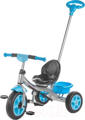 Детский велосипед с ручкой Sundays SJ-9701 (голубой)