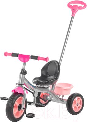 Детский велосипед с ручкой Sundays SJ-9701 (розовый)