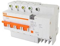 Дифференциальный автомат TDM АД-4-4P-25А-30мА / SQ0221-0007 -