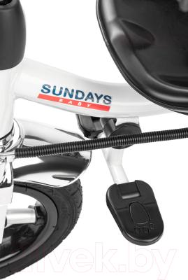 Детский велосипед с ручкой Sundays Для двойни / SJ-5231 (оранжевый)