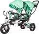Детский велосипед с ручкой Sundays Для двойни / SJ-5231 (зеленый) -
