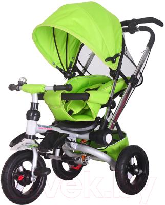 Детский велосипед с ручкой Sundays SJ-10 (зеленый)