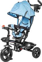 Детский велосипед с ручкой Sundays SJ-6508 (синий джинс) -
