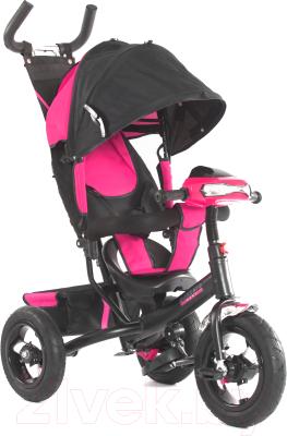 Детский велосипед с ручкой Sundays SJ-BT-92 (розовый)