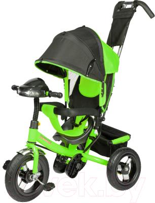 Детский велосипед с ручкой Sundays SJ-BT-92 (зеленый)