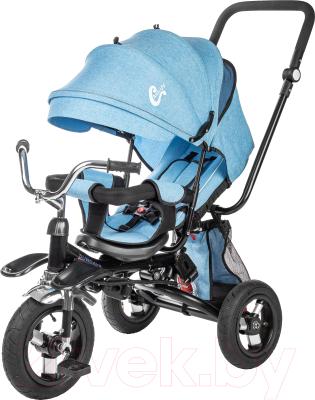 Детский велосипед с ручкой Sundays SJ-BT-16 (голубой)