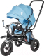 Детский велосипед с ручкой Sundays SJ-BT-16 (голубой) -