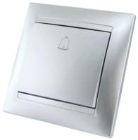 Кнопка звонка TDM Лама SQ1815-0208 (серебристый металлик) -