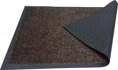 Коврик грязезащитный Kleen-Tex Entrance (85x150, черно-коричневый) - общий вид