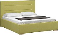 Полуторная кровать Woodcraft Рона 140 вариант 6 (оливковая рогожка) -