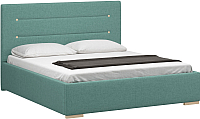 Двуспальная кровать Woodcraft Рона 180 вариант 9 (лазурная рогожка) -