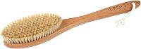 Щётка для тела FOI cosmetics Натуральная из сизаля средней жесткости с ручкой (41см) -