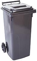 Контейнер для мусора Алеана 122064 (120л, темно-серый) -