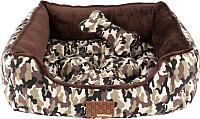 Лежанка для животных Pinkaholic Legend Square / PAQA-AU1431-BC-M (коричневый камуфляж) -