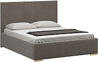 Полуторная кровать Woodcraft Шерона 140 вариант 2 (дымчатый бархат) -