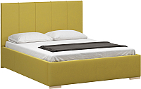 Полуторная кровать Woodcraft Шерона 140 вариант 6 (горчичный велюр) -