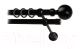 Карниз для штор Lm Decor Шар большой 059 2р гладкий 25/16мм (черный матовый, 1.8м) -