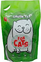 Наполнитель для туалета For Cats Силикагелевый с ароматом зеленого чая / TUZ033 (4л) -