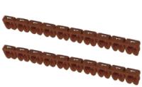 Маркер кабельный TDM SQ0534-0002 (150шт, коричневый) -