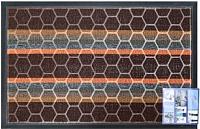 Коврик грязезащитный Shahintex Lux Multicolor 45x75 (шоколадный) -