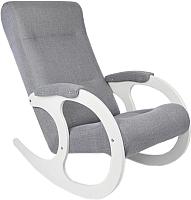 Кресло-качалка Calviano Бастион 3 (серый Мемори 15/белый) -