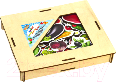 Развивающая игра WoodLand Toys Овощи, фрукты, ягоды / 111401 развивающая игра домино пазлы читазлы фрукты овощи и ягоды 4