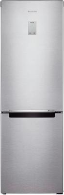Холодильник с морозильником Samsung RB33J3420SA/WT - вид спереди