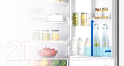 Холодильник с морозильником Samsung RB33J3420SS/WT