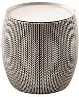 Кофейный столик садовый Keter Urban Knit / 229128 (бежевый) -
