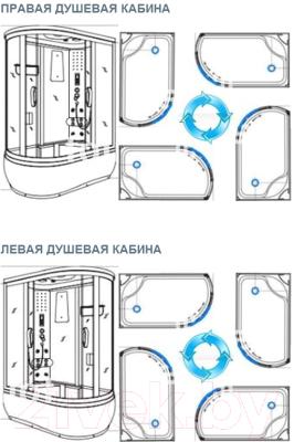 Душевая кабина Coliseum TM-120 R (белый/тонированное стекло)