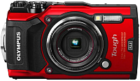 Компактный фотоаппарат Olympus TG-5 (красный) -