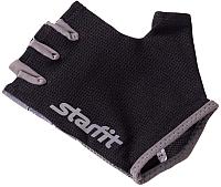 Перчатки для фитнеса Starfit SU-127 (S, черный/серый) -