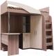 Кровать-чердак детская SV-мебель Город Ж 90x200 комбинированная (ясень шимо темный/ясень шимо светлый) -