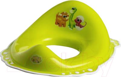 Детская накладка на унитаз Maltex Дино / 5961 (зеленый/белый)