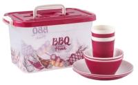 Набор пластиковой посуды Полимербыт BBQ Time 80943 -