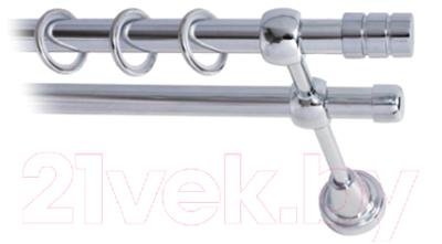 Карниз для штор Lm Decor Цилиндр 088 2р гладкий 25/16мм (хром, 3.2м)