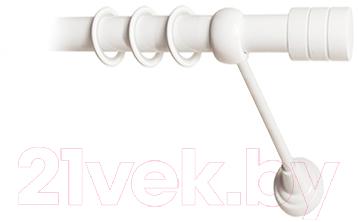 Карниз для штор Lm Decor Цилиндр 088 1р гладкий 25мм (белый глянец, 2.8м)