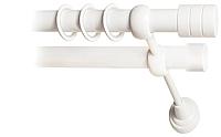Карниз для штор Lm Decor Цилиндр 088 2р гладкий 25/19мм (белый глянец, 2.8м) -